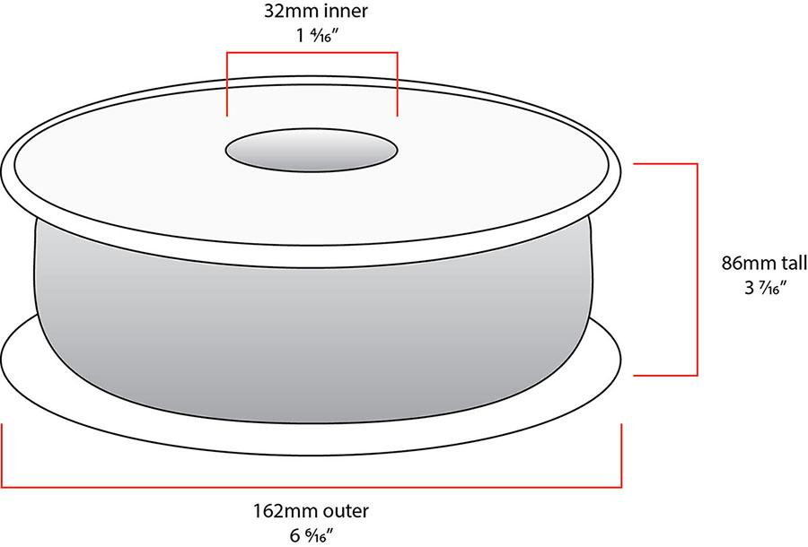 FoxSmart spool size