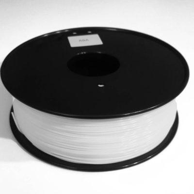 3D printer filament picture of ASA spool, white
