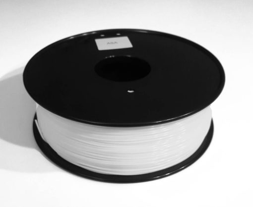 3D printer filament picture of ASA spool, white